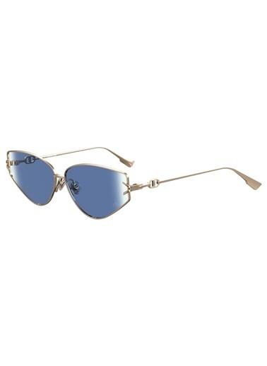 Christian Dior Christian Dior Diorgipsy2 000 So 62 Ekartman Metal  Cam Altın Çerçeve Kadın Güneş Gözlüğü Altın